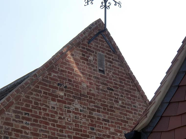 Bat mitigation showing Schwegler Bat Tube incorporated into converted barn